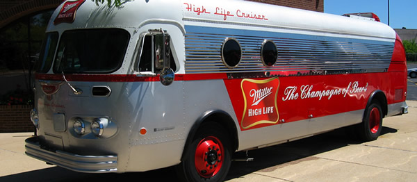 High Life Beer Bus